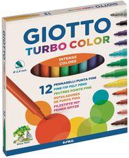 Cartoleria Pennarelli Giotto Turbo color. Scatola 12 colori assortiti Giotto
