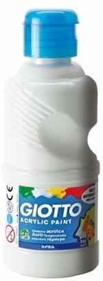 Tempera acrilica Giotto. Flacone 250 ml. Bianco