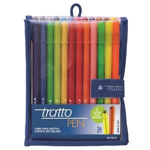 Pennarelli Tratto Pen. Confezione 24 colori assortiti - 2
