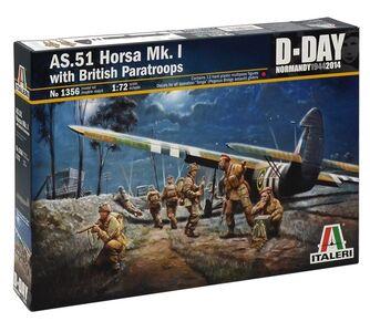 Giocattolo Aereo As.51 Horsa Mk.I/Ii & British Paratroops (1356S) Italeri