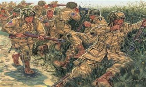 Giocattolo Soldatini paracadutisti USA Italeri
