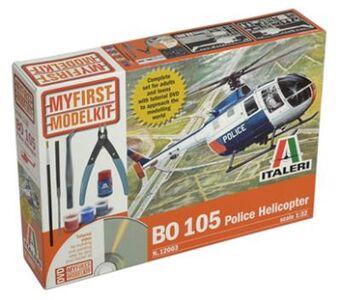 Giocattolo Elicottero Bo 105 Police Helic. - (Kit + tools + colla + colori + video tutorial) (12003S) Italeri