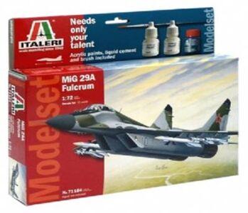Giocattolo Aereo Mig-29a Fulcrum - (Kit + colori + colla + pennello) (71184S) Italeri