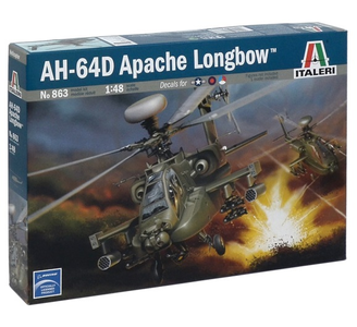 Giocattolo Elicottero Wah-64 D Apache Longbow (0863S) Italeri 0