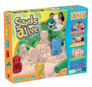 Sands Alive. Super Sabbia. Animali. Vaschetta Con Sabbia, 3 Formine + 1 Attrezzo