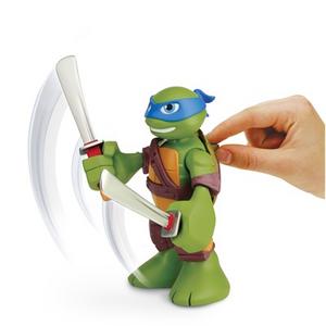 Giocattolo Turtles Mini Heroes, Personaggio Deluxe Leonardo con suoni Giochi Preziosi 1
