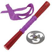 Giocattolo Turtles Armi Combact Gear con suoni, Completo di Stella Ninja, Bastone e Mascherina di Donatello Giochi Preziosi