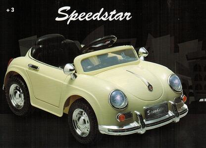 Macchina Elettrica per Bambini 6V Speedstar Bianco - 3