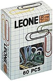 Fermagli in plastica colorata Molho Leone Nr. 3 blister 2 scatole da 100