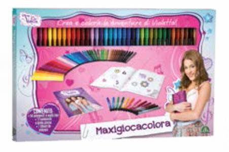 Cartoleria Violetta. Maxi gioca e colora Auguri Preziosi