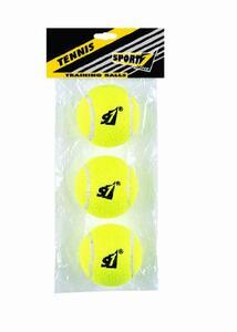 Busta 3 Palle Tennis Training Gialle