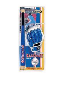 Set Baseball Strike 3 Con Mazza In Legno Cm. 60. 3 Varianti Ass.