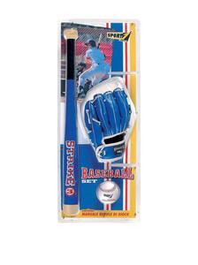Set Baseball Strike 3 Con Mazza In Legno Cm. 60. 3 Varianti Ass. - 3