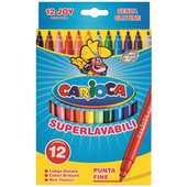Cartoleria Pennarelli Joy Scatola 12 pezzi Carioca