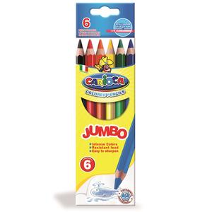 Cartoleria Pastelli esagonali Hexagonal Jumbo Pencil 6 pezzi Carioca