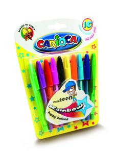 Cartoleria Mini WHT-T  Blister 10 pezzi. Rainbow Carioca