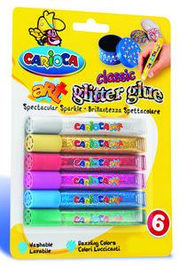 Giocattolo Glitter Glue 6 x 10,5 ml. Classic Carioca