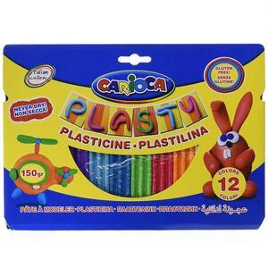 Pasta da modellare Carioca Plasty. Confezione 12 colori assortiti