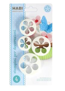 Confezione 4 stampini per decorare fiore