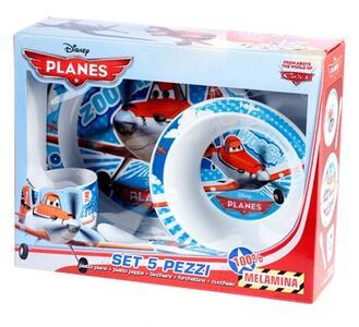 Confezione 5 pezzi bimbo tondo Planes
