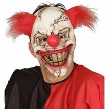 Maschera clown killer a mezzo viso