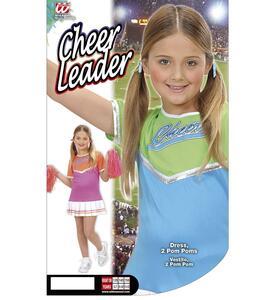 Costume Cheerleader ass. In 2 colori 128cm - 5