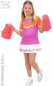 Costume Cheerleader ass. In 2 colori 128cm - 6