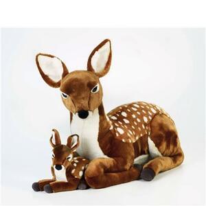 Peluche cerbiatto gigante con baby