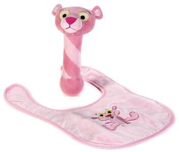 Baby Pantera rosa bavaglia + giochino - 2