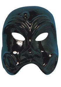 Carnival Toys 54. Maschera Arlecchino Classico Nero In Plastica