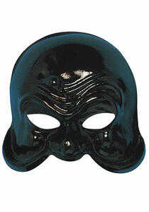 Carnival Toys 58. Maschera Arlecchino Servitore Nero In Plastica