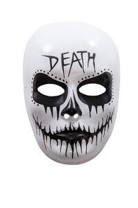 Maschera viso medio decorato teschio