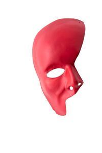 Carnival Toys 182. Maschera Mezzo Viso Rossa In Plastica