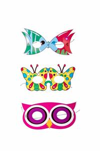 Pesce/Gufo/Farfalla 6 Mascherine In Carta
