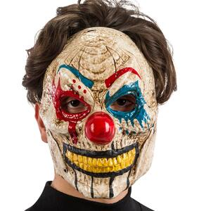 Carnival Toys 694: Maschera Clown Horror In Plastica C/Mandibola Mobile In Busta C/Cav.