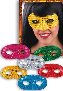 Carnival Toys 698. Domino In Tessuto Con Paillettes