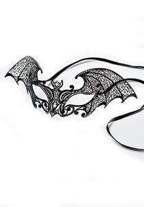Carnival Toys 729. Maschera Pipistrello Nero In Metallo