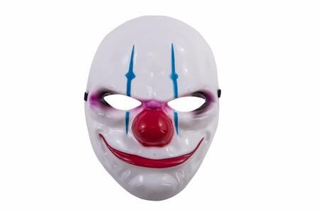 Carnival Toys 784. Maschera Clown Horror In Plastica Rigida