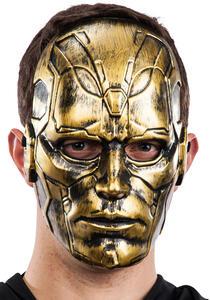Maschera Uomo Oro In Plastica Rigida