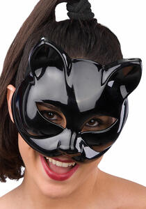 Maschera Gatto Nero In Plastica Rigida