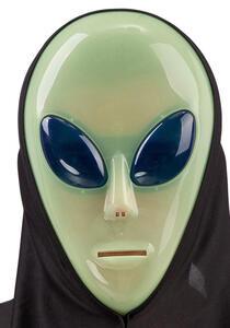 Carnival Toys 887. Maschera Alieno G.I.D. In Plastica Rigida Con Cappuccio