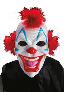 Maschera Clown In Plastica Rigida
