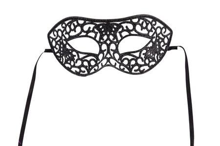 Carnival Toys 1383. Maschera In Plastica Intagliata Con Glitter Neri