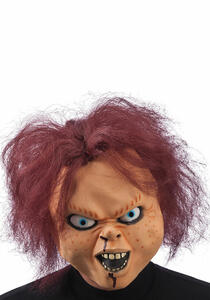Carnival Toys 1415. Maschera Bambola Horror In Lattice C/Capelli