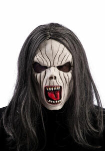 Maschera Vampira In Lattice con Capelli