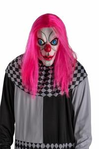 Maschera Clown In Lattice con Capelli Fuxia