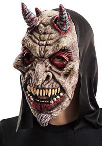 Maschera Diavolo In Fingomma con Cappuccio