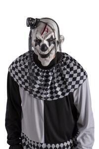 Maschera Clown Horror In Lattice con Cappellino E Capelli