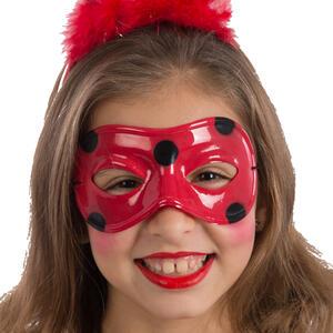 Carnival Toys 1500: Maschera Coccinella In Plastica Con Cartellino/Etichetta