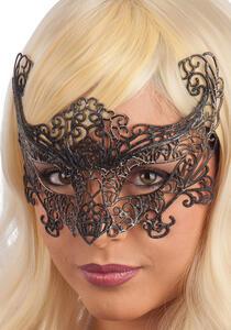 Maschera Nera In Plastica con Glitter
